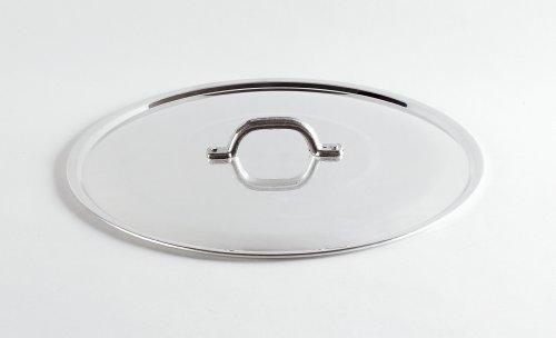 Pentole Agnelli FAMA2920 Coperchio Lucido Piano Tipo Pasante con Orlo e Ponticello, 20 cm