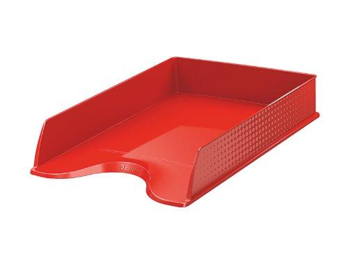 Esselte - Vaschetta portacorrispondenza, dimensione A4, Fusion rosso