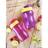 Plastic Water Bottle, 310ml, Set of 2, Pink and Purple