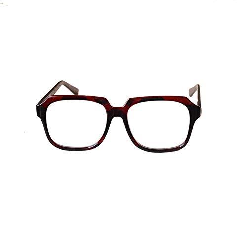 Easy Go Shopping Retro Winddichte Sonnenbrillen für Männer, auffällige Brillen mittleren Alters und ältere Menschen. Sonnenbrillen und Flacher Spiegel (Farbe : Clear)