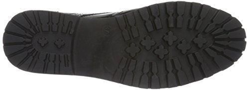 PIECES Damen Psdonna Boot Patent Black Combat Schwarz (Black)