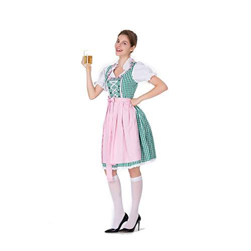 Kostüm Mädchen Zombie Bier - Halloween Cosplay Kostüm Erwachsene Cosplay Große Größe Bier Mädchen Kleid Gestaltung Bühnenkostüm Maid Kostüm Geeignet Für Karneval Thema Parteien,Green,S