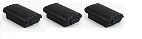 3 x Carcasas / Soportes de Pilas para Mandos Inalámbricos Negros de Xbox 360    Garantía de un año    De Gratify®