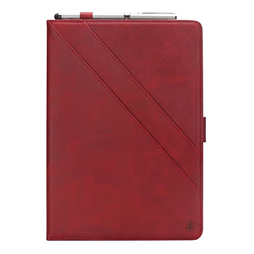 Samsung Galaxy Tab S3 9.7 T820 T825 Hülle, Prämie PU Leder Brieftasche Pouch Flip Hülle Hülle Anti-Scratch Defender HülleSeries zum Samsung Galaxy Tab S3 9.7 T820 T825 (Red)
