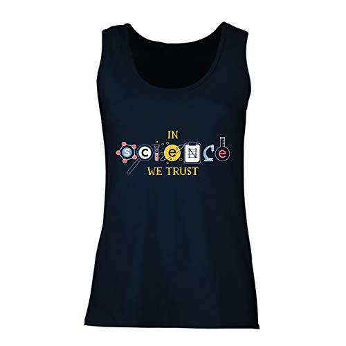 lepni.me Damen Tank-Top Wir Vertrauen auf Wissenschaft, Abschlussfeier-Outfit, Lehrer-Zitate (XX-Large Blau Mehrfarben) (Halloween-filme 20 Top Besten Der)