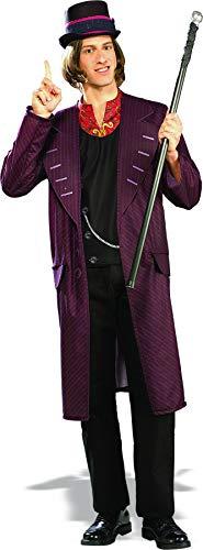 Willy Wonka Kostüm Charlie und die Schokoladenfabrik Männer (Willy Mann Kostüm)