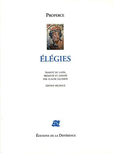 Elégies : Edition bilingue français-latin