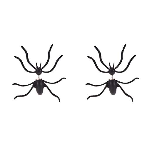 Ein Halloween 3D Double Sided Ohren Schmuck Spinnen-Ohrringe -