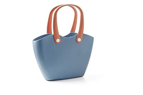 GF Garden, FOR The Living Bag, Einkaufstasche aus Kunststoff mit ergonomischen Henkeln, Farbe Babyblau
