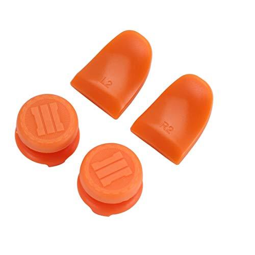 LouiseEvel215 Botones L2 R2 Extention Trigger Handle Rocker Cap Cover Kit Soft Touch Grip Extenders Configuraciones de juego para EL controlador PS4 (Juegos Para Llaves)