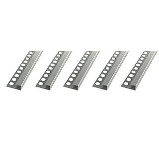 25 METER - Höhe: 10mm PREMIUM FUCHS Fliesenschiene Quadratprofil Aluminium Eloxiert silber matt - 1mm Stärke - 250cm Schiene