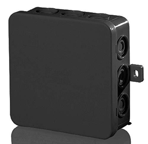 f-tronic Feuchtraum-Abzweigkasten IP54, 85x85x40mm, schwarz, 1 Stück, E113S