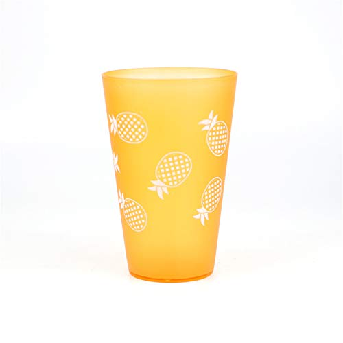thdymxdp Daily Necessities Trumpet Candy Color Plastic Cups Fashion Printed Beer Mugs Mouth Cups Yellow 370ml -