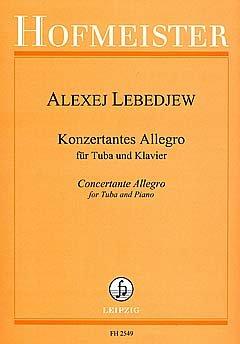 KONZERTANTES ALLEGRO - arrangiert für Tuba - Klavier [Noten / Sheetmusic] Komponist: LEBEDJEW ALEXEJ