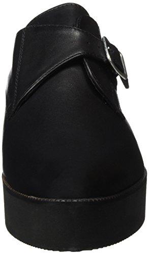 Bianco Flatform Buckle Loafer Jja16, Mocassins Femme Noir - Schwarz (10/Black)