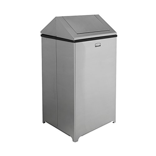 rubbermaid-commercial-40gal-wastemaster-steel-hinged-top-indoor-utility-trash-can-with-plastic-liner