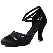 Syrads Zapatos de Baile Latino para Mujer Baile de Salón Tacón Alto Zapatos de Tango Salsa