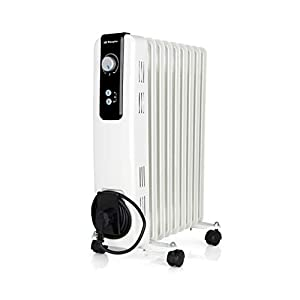 Orbegozo RH Radiador de Aceite, 2000W de Potencia, 9 Elementos y diseño en Color Blanco, Negro, 2000 W