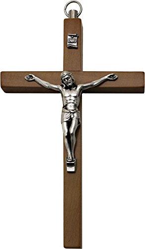 Wandkreuz Kruzifix / Holz Kreuz mit Jesus 13cm lang