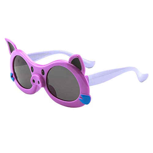 Yying Cute Style Cartoon Schwein Bild Polarisierte Sonnenbrille Kinder UV400 Schutz Sonnenbrille UV400 ()