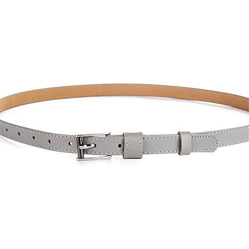 Lässige Gürtel Frauen Ledergürtel verstellbare dünne Taille Gürtel für Jeans Hosen Kleider Plus Größe, Lässige Mode-Accessoires (Farbe : Grau) - Größe Jeans 12 Frauen