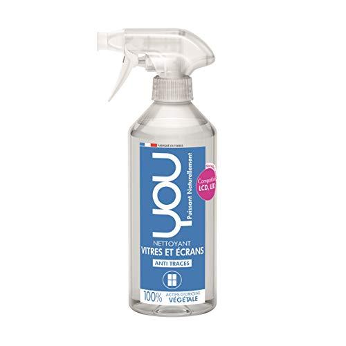 YOU Glas-Reiniger 500ml - streifenfreier Glanz - 100% pflanzliche Wirkstoffe