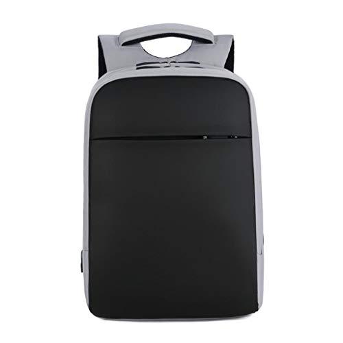 Unbekannt ReiserucksackGroßer Computerrucksack mit USB-Ladeanschluss , Wasserfeste Schultasche for Computer-Notebook-Tagesrucksack for die Arbeit (Schwarz/Grau) (Color : Gray) - 1-wan-schnittstelle