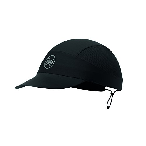 Buff Erwachsene Pack Run Cap, R Solid Black, One Size
