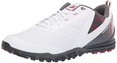 New Balance Minimus SL - Scarpe da Golf da Uomo, Bianco (Bianco/Marrone), 45 EU