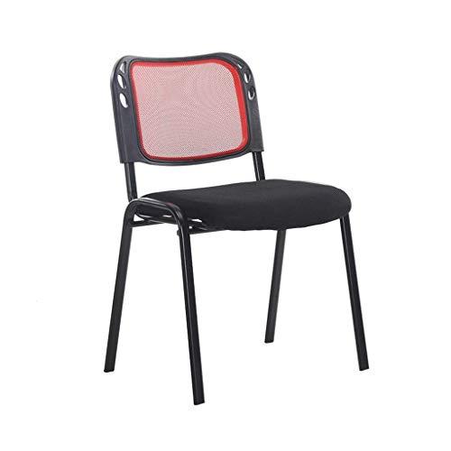 ZLFLD Bürostuhl Konferenzstuhl zurück Mitarbeiterschulung gepolsterter Stuhl zurück niedrige Last leichte Bürostuhl Rückenlehne Computersystem Schreibtisch Bürostuhl (Color : Red)