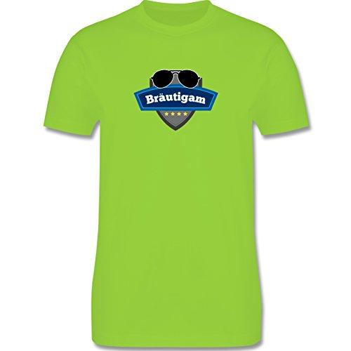 JGA Junggesellenabschied - Bräutigam Police - Herren Premium T-Shirt Hellgrün