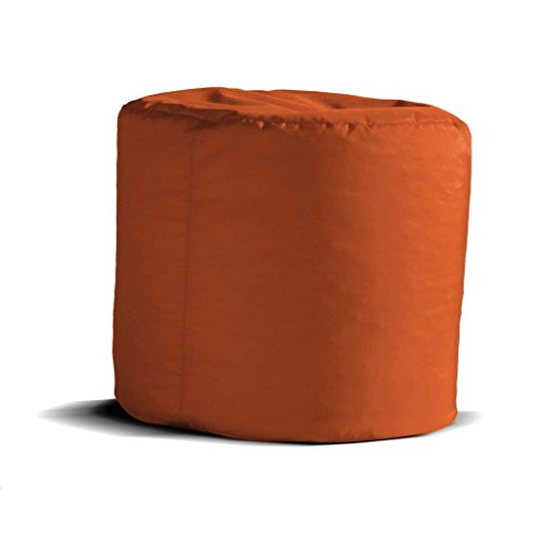 Avalon pouf cilindro jive tessuto tecnico antistrappo arancio imbottito