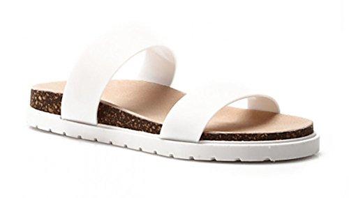 Schuhzoo , Sandales pour femme * * Weiß
