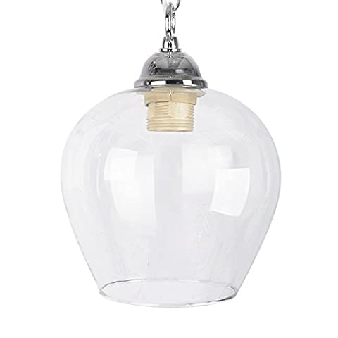 Classic Style Clear Glass Bell Dome Ceiling Lamp Pendant Light Shade
