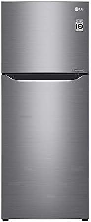 LG 345 Liters Top Mount Refrigerator with Smart Inverter Compressor, Platinum Silver - GR-C345SLBB, 1 Year War