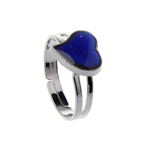 Magischer Fashion Ring in Herzform, Stimmungsring, Emotion-Feeling, Temperatureinstellung, Schmuck