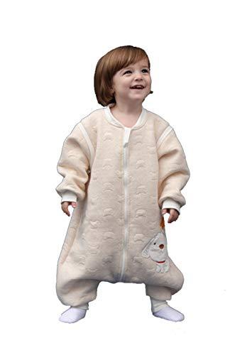 Babyfat sacco nanna/pigiama con piedini neonato bambino autunno/invernale 2.5tog giallo label 100(2-3t)