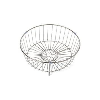 Rieber 72100922 Panier à vaisselle rond Chromé Pour évier circulaire ou évier encastré S8 standard