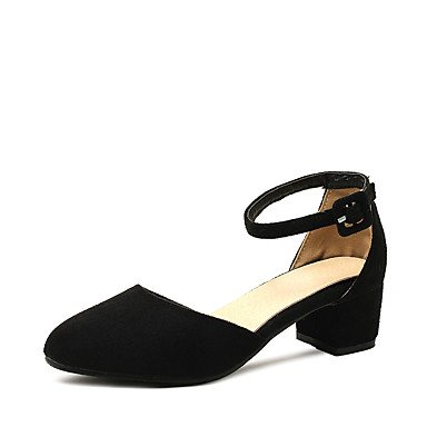 delle donne sandali estivi D & # 039; Orsay & amp;Due pezzi in similpelle partito & amp nozze;Abito da sera tacco grosso con fibbia Hollo US4-4.5 / EU34 / UK2-2.5 / CN33