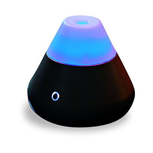 Pajoma 62528 Diffuseur aromatique Black, avec Changement de Couleur LED, Hauteur 14 cm