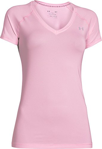 Under Armour HEATGEAR ARMOUR SS - Camiseta de manga corta para Mujer, color Rosa Claro (Petal Pink), talla M