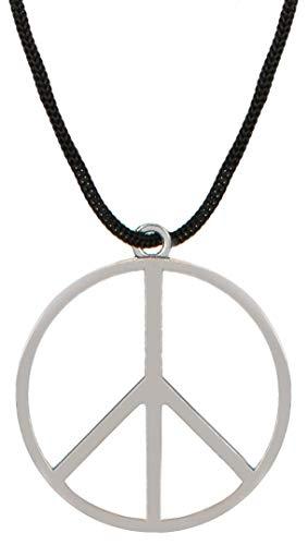 n Silber aus Metall mit Stoffband Kette zum umhängen als Halskette ()