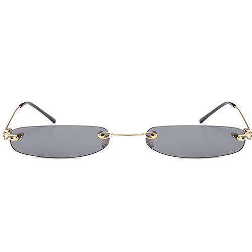 WAYAOZJ Rahmenlose Sonnenbrille, Vintage Kleine Schmale Sonnenbrille Radfahren Laufen Fahren Fischen Golf Baseballbrille 100% UV-Schutz Trendy Ocean Sonnenbrille,C1