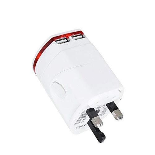 GYLFDC Internationales Netzteil, Dual USB Universal Conversion-Buchse, für mehr als 150 Länder Reisestecker-Adapter für USA EU UK AUS