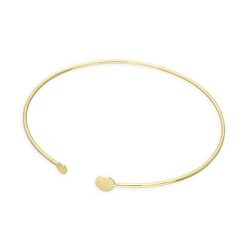 jewellerybox 9K Gold Gravierbar Oval Armreif
