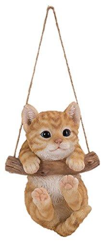 Figura decorativa para interior y exterior con diseño de gato