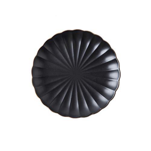 YYF Vaisselle en céramique nordique créative - Set de plats Steak Milan 8-10.25 pouces (Color : Black, Taille : 20.2cm)