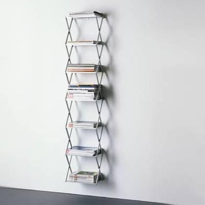 STRETCH Magazin-Regal und Zeitschriften-Regal Aluminium