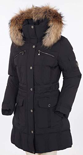 Sunice Women's Tanya Coat with Fur, Black, 14 3/4 Length Down Coat