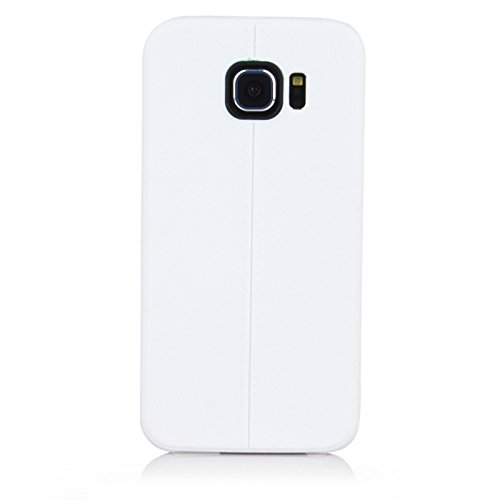 "ImagineDesign(TM) Premium Textured ""Stitch Line Collection"" Matte Finish Back Case Cover For SAMSUNG GALAXY S6 (Antique White)"